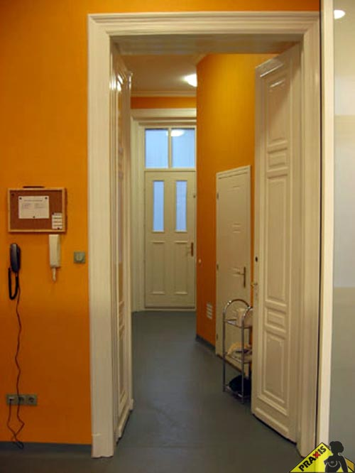 Private clinic's corridor